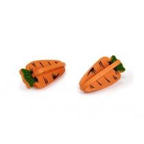Houten knaagdierspeeltje wortel