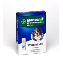 Mansonil all worm large dog flavour 2 tabletten